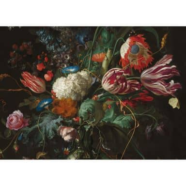 Leinwandbild Vase mit Blumen (Jan Davidsz de Heem)