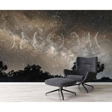 Architects Paper Fototapete Atelier 47 Moon Phases Himmel