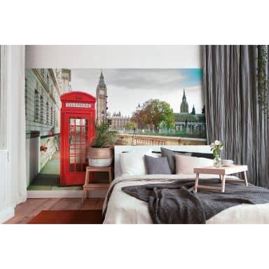 Livingwalls Fototapete Designwalls Phone Booth Stadt