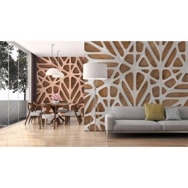 Livingwalls Fototapete Designwalls Organic Surface in 3D Optik