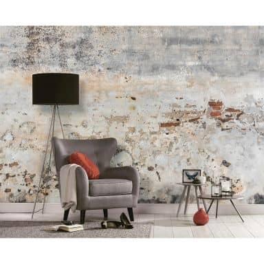 Livingwalls Fototapete Designwalls Old Wall in Betonoptik