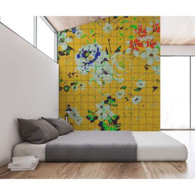 Livingwalls Photo Wallpaper Walls by Patel 2 flower plaid 1