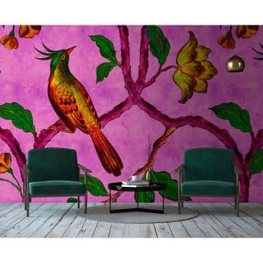 Livingwalls Fotomurale Walls by Patel 2 bird of paradise 2