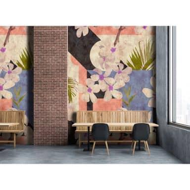Livingwalls Fotomurale Walls by Patel 2 vintage bloom 2