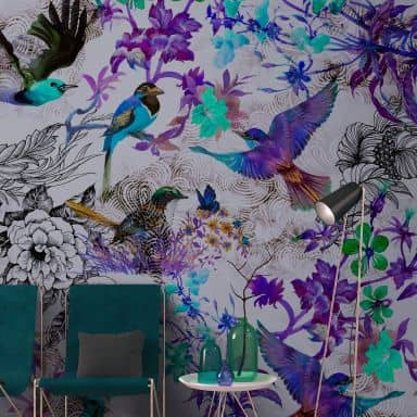 Livingwalls Photo Wallpaper Walls by Patel funky birds 2