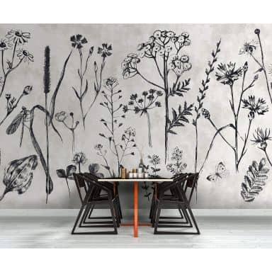 Livingwalls Fotomurale Walls by Patel sketchpad 1