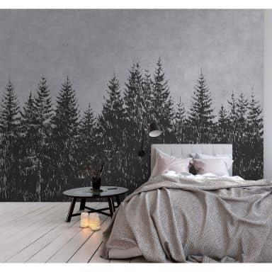 Livingwalls Fotomurale Walls by Patel black forest 3