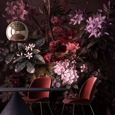 Livingwalls Photo Wallpaper Walls by Patel bouquet noir 1