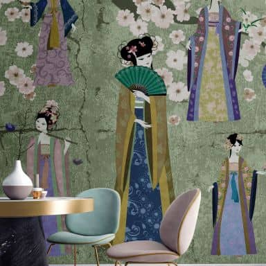 Livingwalls Photo Wallpaper Walls by Patel kimono 1