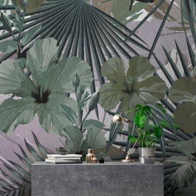 Livingwalls papier peint photo Walls by Patel hibiscus 1