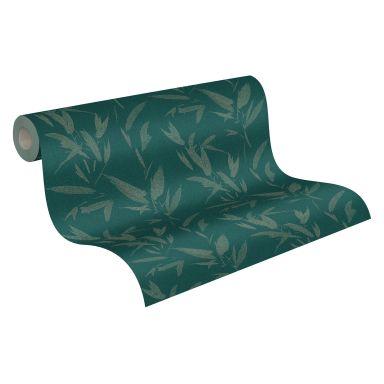 A.S. Création Vliestapete New Elegance Palmentapete, grün, metallic