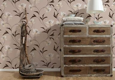 A.S. Création Structure Profile Wallpaper Atlanta Brown, Cream, Metallic