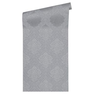 Architects Paper Vliestapete Alpha Barocktapete mit Ornamenten grau, metallic