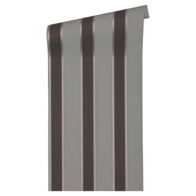 Architects Paper Vliestapete Alpha Blockstreifentapete grau, metallic, schwarz