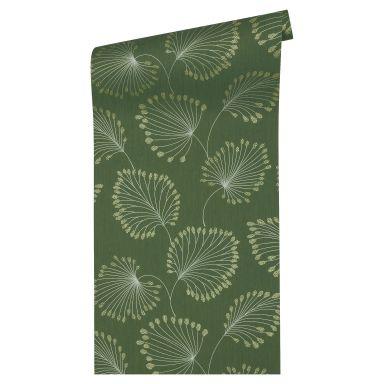 Architects Paper Vliestapete Alpha Blumentapete floral grün, metallic