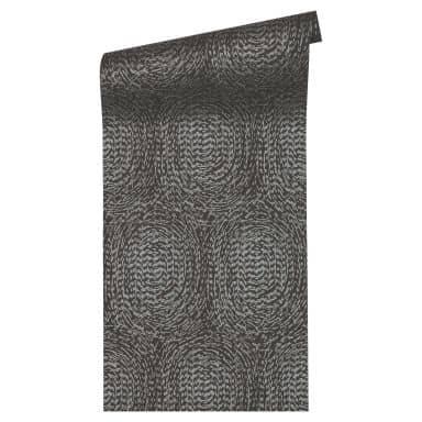Architects Paper Vliestapete Alpha geometrische Tapete mit Kreisen metallic, schwarz
