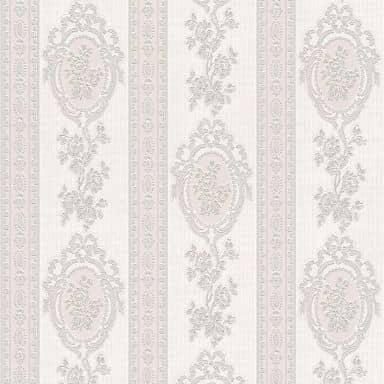 A.S. Création wallpaper Belle Epoque grey, metallic, white