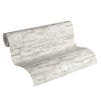 A.S. Création non-woven wallpaper Best of Wood`n Stone 2nd Edition grey, white