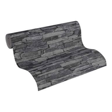A.S. Création behang Best of Wood`n Stone 2nd Edition grijs, zwart