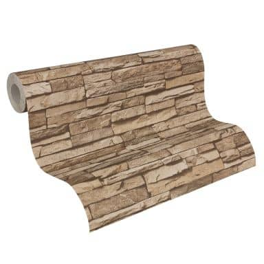 A.S. Création behang Best of Wood`n Stone 2nd Edition beige, bruin