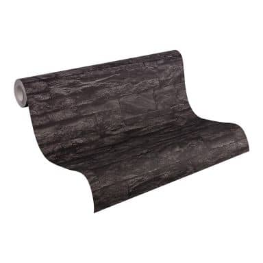 A.S. Création non-woven wallpaper Best of Wood`n Stone 2nd Edition grey, black