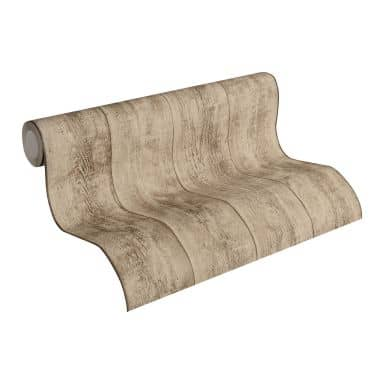 A.S. Création non-woven wallpaper Best of Wood`n Stone 2nd Edition beige, brown, yellow