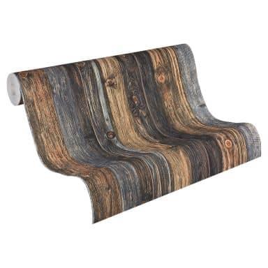 A.S. Création Vliestapete Wood and Stone Tapete in Holzoptik Holzplanken beige, braun, grau