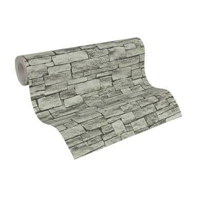 A.S. Création non-woven wallpaper Best of Wood`n Stone 2nd Edition beige, grey, black