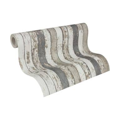 A.S. Création non-woven wallpaper Best of Wood`n Stone 2nd Edition brown, grey, white