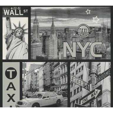 A.S. Creation wallpaper NYC Taxi black and whiteetallic, black, white
