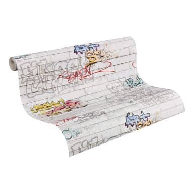 A.S. Création - carta da parati Boys & Girls 4 colore bianco, multicolore