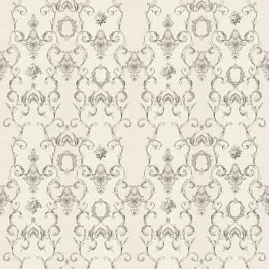 A.S. Création Vliestapete Château Barocktapete mit Ornamenten grau, metallic, weiß