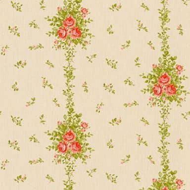 A.S. Création non-woven wallpaper Château 5 beige, green, red