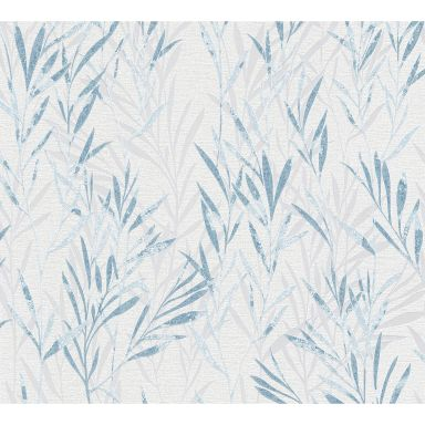 A.S. Création Vliestapete Flavour Blumentapete floral blau, weiß