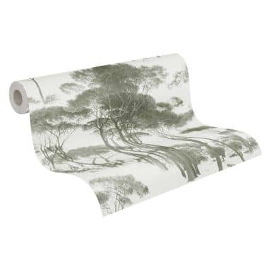 A.S. Création History of Art Papier peint forêt Vert, Blanc