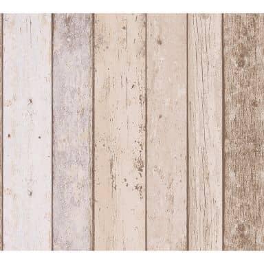 A.S. Création ikke-vævet tapet il Decoro tapet - Maritimt Vintage træoptik, Beige, Blå, Brun