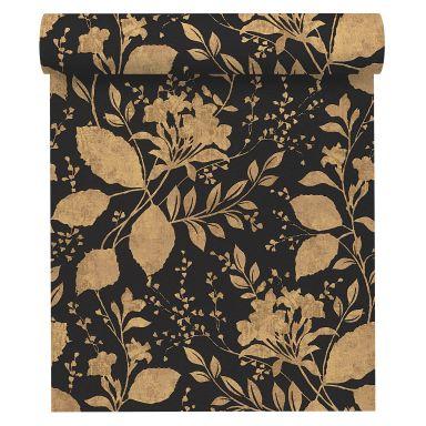 A.S. Création Vliestapete Memory Blumentapete floral metallic, schwarz