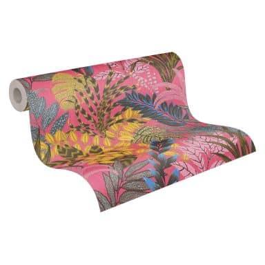 Livingwalls Metropolitan Stories 2 Nala - Cape Town Papier peint floral jungle, Marron, Jaune, Rosa