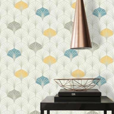 A.S. Création Pop Style Papier peint retro / vintage - Papier peint géométrique Gris, Bleu