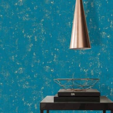 A.S. Création Used Look Papier peint vintage - Bleu