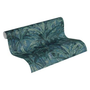 A.S. Création Vliestapete Greenery Palmentapete in Dschungel Optik blau, grün