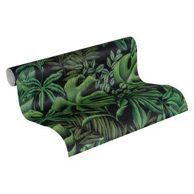 A.S. Création Papier peint Intissé Greenery jungle vert, noir