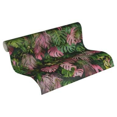 A.S. Création Papier peint Intissé Greenery jungle vert, rose
