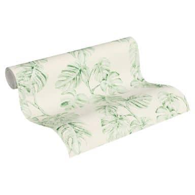 A.S. Création Vliestapete Greenery Dschungeltapete grün, weiß