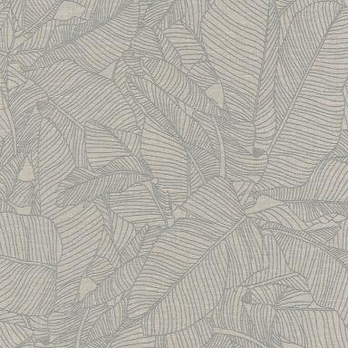 A.S. Création Vliestapete Linen Style Tapete mit Blätter Muster beige, grau