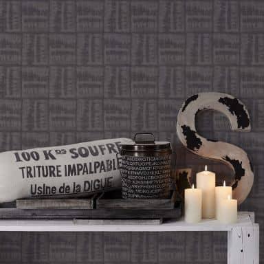 A.S. Création Vliestapete Linen Style Tapete  schwarz