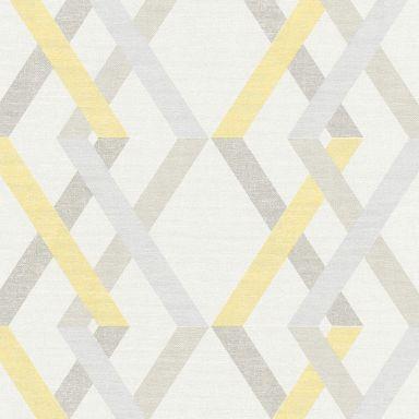 A.S. Création Vliestapete Linen Style geometrische Tapete beige, gelb, grau