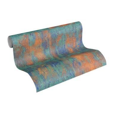 A.S. Création Vliestapete Materials Tapete in Metalloptik blau, braun, metallic