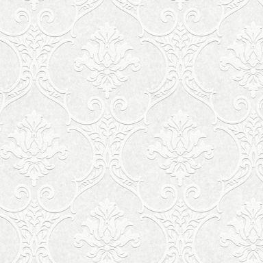 A.S. Création Vliestapete Meistervlies Barocktapete mit Ornamenten überstreichbar weiß
