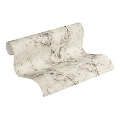 Livingwalls Papier peint intissé New Walls Cosy & Relax floral blanc, crème, gris
